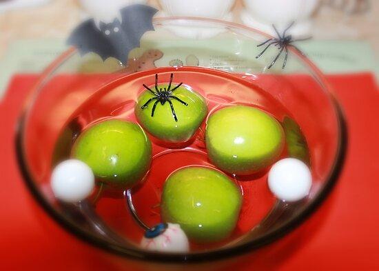 Halloween Apple Bobbing by AnnDixon