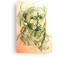 drawing of vincent VG Canvas Print