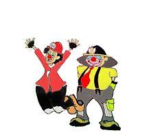Clown Town Photographic Print