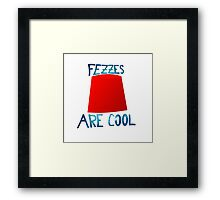 Doctor Who Fezzes Are Cool Framed Print