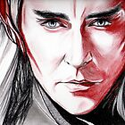 Lee Pace as Thranduil, sanguine by jos2507