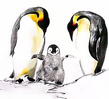 Penguin Pillowcase by globeboater
