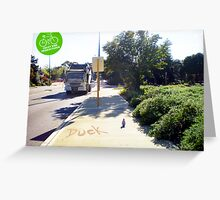 Crazy Bird Considering Wild Lupins Stirling Highway 031013 Greeting Card