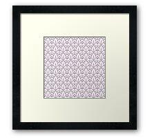 Cindi Lace Pink Framed Print