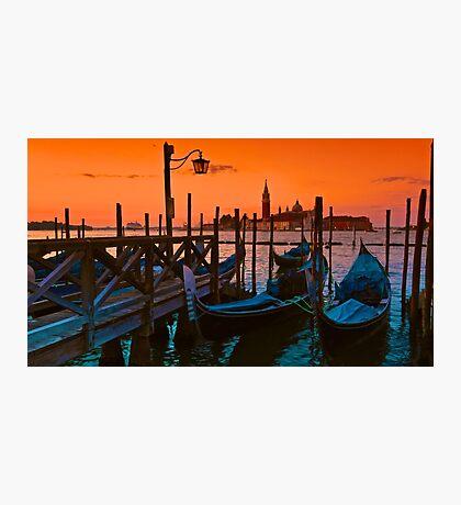 Venezia Gondola Sunrise Photographic Print