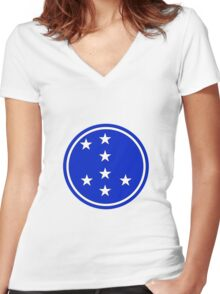 7th Infantry Division, Republic of Korea Army Women's Fitted V-Neck T-Shirt