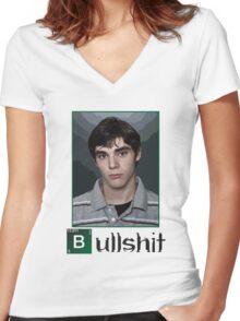 This is Bullshit. White Version. Women's Fitted V-Neck T-Shirt