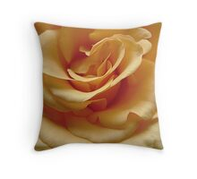 Gold Rose In Full Bloom Throw Pillow