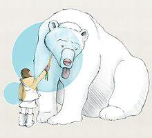 Polar bear and Girl by BlancaJP