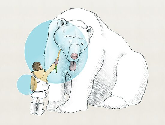 Polar bear and Girl by BlancaJP
