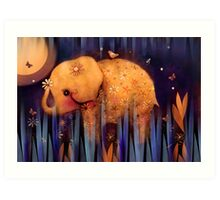 daisy's night garden Art Print