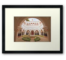 the cloister in the palace Framed Print