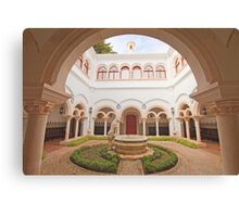 the cloister in the palace Canvas Print
