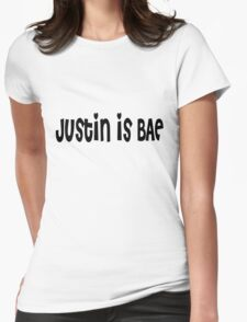 Justin Bieber is BAE Womens Fitted T-Shirt