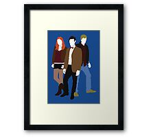 Eleven, Amy and Rory - Doctor Who Framed Print