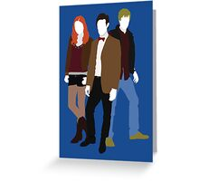 Eleven, Amy and Rory - Doctor Who Greeting Card