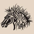 Tribal Horse Cool Vector T-Shirt and Stickers by Denis Marsili - DDTK