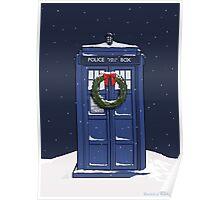 Snowy Tardis Poster