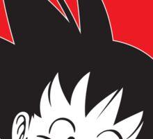 Goku in Japanese Flag Sticker