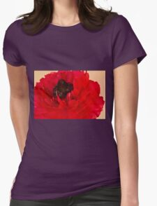 Vibrant Petals Womens Fitted T-Shirt