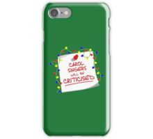 TARDIS Sign - DW Christmas Special iPhone Case/Skin