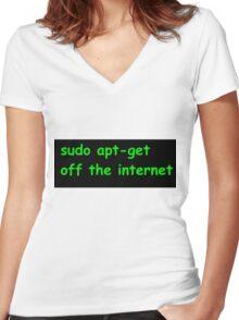 Sudo Women's Fitted V-Neck T-Shirt