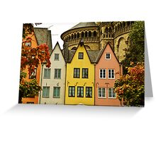 Pastel houses Greeting Card