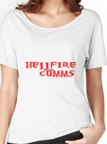 Hellfire Comms - Simple Logo (red) Women's Relaxed Fit T-Shirt
