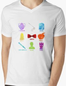 Watercolor Doctor Who Mens V-Neck T-Shirt