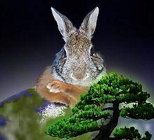 Happy Arbor Day Bunny Rabbit by jkartlife
