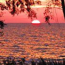 Sun-Half-Set-Over-Aegean-Sea by M-EK