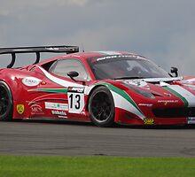 British GT 2013 Donington - #13 John Dhillon / Aaron Scott - AF Corse Ferrari 458 Italia GT3 - Goddards by motapics