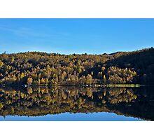 Autumn lake Photographic Print