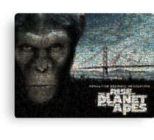 Mosaic: Rise of the Planet of the Apes Canvas Print
