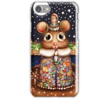 Little Bright Eyes the Radiant Christmas Mouse iPhone Case/Skin