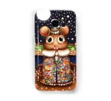 Little Bright Eyes the Radiant Christmas Mouse Samsung Galaxy Case/Skin