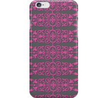 pink and gray designer iPhone Case/Skin