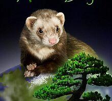 Arbor Day Ferret by jkartlife