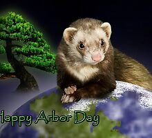 Happy Arbor Day Ferret by jkartlife