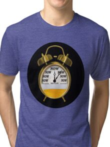 ☝ ☞ ITS NOW -TIME FOR A BEER- WITH- BEER OCLOCK TEE SHIRT ☝ ☞  Tri-blend T-Shirt