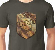Custom Dredd Badge - (Wright) Unisex T-Shirt