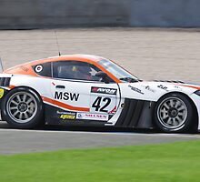 British GT 2013 Donington - #42 Derek Johnson / Luke Hines - Mtech G55 Ginetta GT3 - Flaming Exhaust at Redgate by motapics