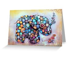 Little Sunshine the Patchwork Elephant Greeting Card