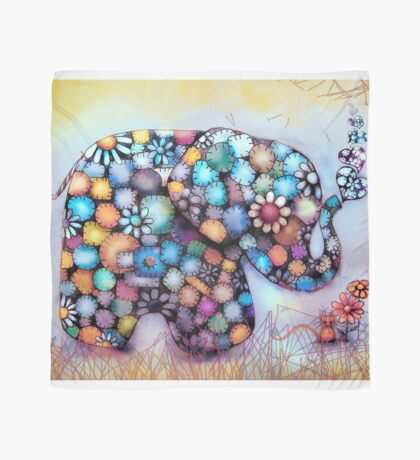 Little Sunshine the Patchwork Elephant Scarf