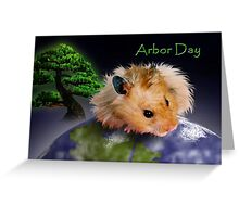 Arbor Day Hamster Greeting Card
