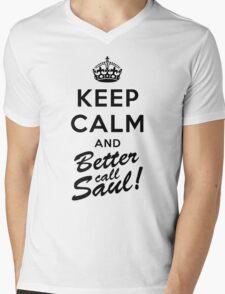 Keep Calm and Better call Saul Mens V-Neck T-Shirt