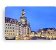 Neumarkt and Frauenkirche, Dresden Canvas Print