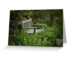 Bench - Bodnant Gardens, Wales Greeting Card
