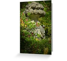 Stonework - Bodnant Gardens, Wales Greeting Card