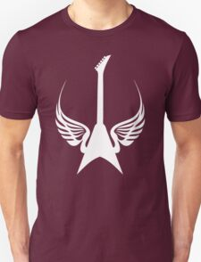 Cool Rock Electric Guitar Wings Music T-Shirt